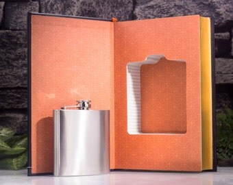 Hollow Book Safe & Hip Flask- The Republic and Other Dialogues: PLATO (LEATHER BOUND)