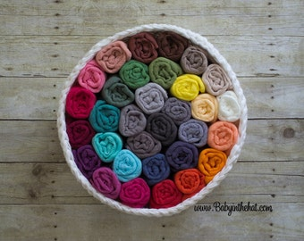 3 Newborn Cheesecloth Wrap Photography Prop Hand Dyed 3 ft x 6 ft Pick Your Colors RTS