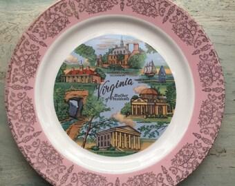 Homer Laughlin Virginia Souvenir Plate