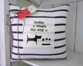 50% CLEARANCE SALE Decorative pillows,burlap pillow, rustic pillow, dog pillow, pet decor, dogs,farmhouse decor, animal decor, rustic decor,