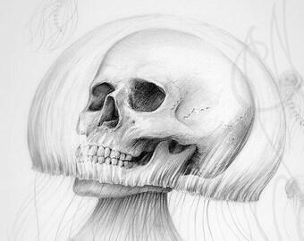 """Martinefa's original drawing - """" Jelly skull """""""