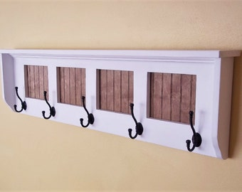 Coat Rack Shelf - Coat Rack - Wall Shelf - Wall Coat Rack - Wood Coat Rack Shelf