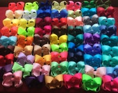 """Wholesale Lot of 25 4"""" wide solid color hair bows. Back to school special. Turnaround time is 3-4 weeks right now"""