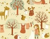 Laundry Day - Acorn Trail - Teagan White - Organic Cotton - Birch Fabrics - 1 Yard