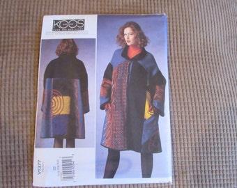 Vogue Coat Pattern  V1377 Koos Van Den Akker Collerction Size XSmall-Med.
