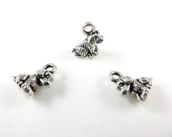 10 Tiny dog charms