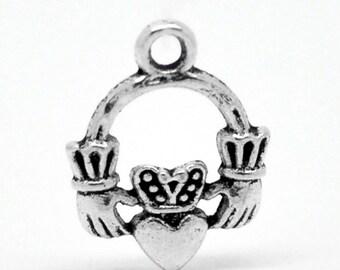 Calddagh Charms Antique Silver 18 x 4 mm U.S Seller - ts1275