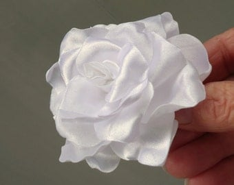 White Hair Flower, Gardenia Hair Flower, Wedding Gardenia, Gardenia Hair Comb, Wedding Hair Accessory
