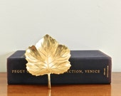 Vintage Brass Dish Brass Leaf Dish Petite Tray Rustic Chic Deor