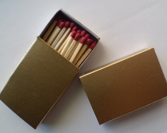 Gold Matches. Match Boxes. 2 Pieces.