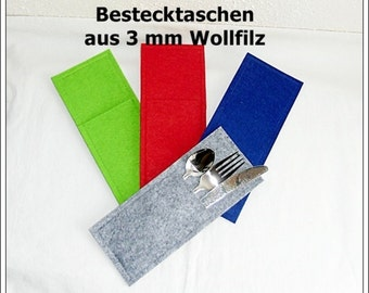 Wool felt - favorite color - Cutlery Bags