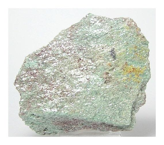 Green Muscovite Mica : Fuchsite green mica muscovite mineral specimen by