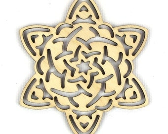 Snow Mum - Laser Cut Wood Snowflake in Multiple Sizes and Quantity Discounts