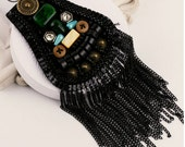 A3 2pcs Hand made epaulet  High fashion shoulder jewelry body jewelry clothing accessory constume accessories harness shoulder armour