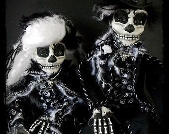 Fine Art Photo Print Day of the Dead - Maximo and Milena