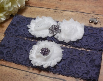 Wedding Garter , Garter , Purple Garter , Purple Wedding Garter , Fall Garter , Purple Wedding , Lace Garter