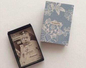 Miniature Cabinet Card Shadowbox Art Magnet