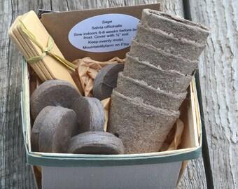 Herb Seed Kit Organic Herb Garden Kit Kitchen Herbs Indoor Garden Kit Gift for Mom Gift for Gardener Hostess Gift Grow Fresh Organic Herbs