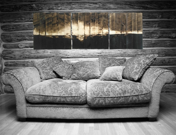 Arte rústico de la pared, Mural - pintura con fuego, cabaña rustica decoración, paisaje arte, arte de madera, arte original por Mark Mahorney, woodZwayz