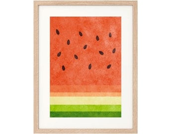Watermelon - Large Art Print - Sustainably Printed