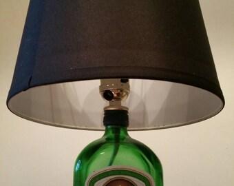 Jaqermeister bottle lamp
