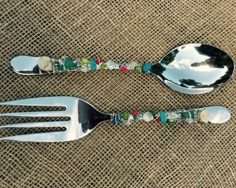 Salad Servers Totally Turquoise