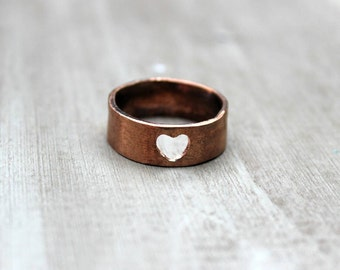 Copper Heart ring