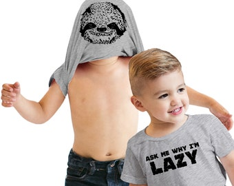 Toddler Ask Me Why Im Lazy Flip T-Shirt sloth shirt, animal lover, zoo tshirt, flip over, gift for little boy, present for little girl