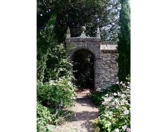 gate to the Master's garden, Magdalene College, Cambridge — archival mounted print