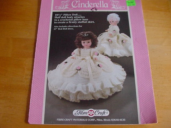 Items similar to 1989 crochet pattern booklet fibre craft for Fibre craft 18 inch doll