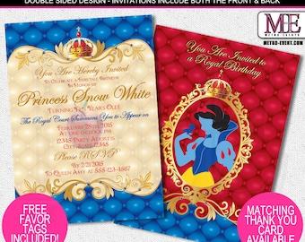 Princess Snow White Invitations, Disney Princess Invitations, Snow White Invitations, Princess Party Invitations, Disney Birthday Invitation