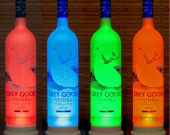 Grey Goose Vodka Color Changing Remote Control lamp Bottle Lamp Bar Light man cave lighting LED Eco lamp Liquor Lamps Bodacious Bottles