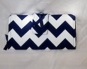 Chevron Navy Womens Wallet Clutch billfold Cellphone checkbook cover Organizer Bifold zipper credit card holder Leukodystrophy Zipper Wallet