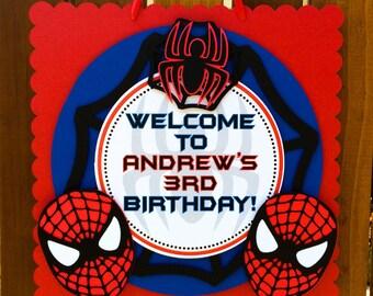 Spiderman Inspired Door Sign