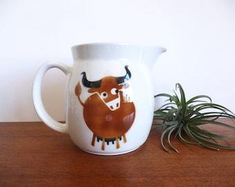 Vintage Arabia Finland Kaj Franck Heluna Cow Bull Pitcher