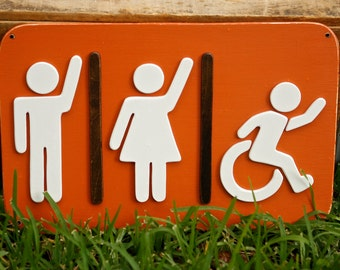 bathroom sign unisex restroom sign womens bathroom mens bathroom handicap bathroom