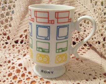 Vintage Sony Electronics Graphic Coffee Cup
