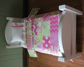 """Pink / Green American Girl/18"""" doll sized Quilt Bedding Set"""