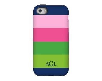 Personalized iPhone 6 case, Bold Stripe, iPhone 5 case, iPhone tough case, iPhone snap on case, 3d iPhone case