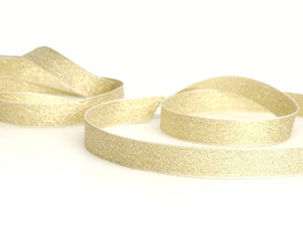 Glitter Gold and Silver Ribbon