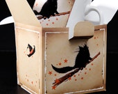 Come Fly With Me Witchy Halloween black cats ceramic mug