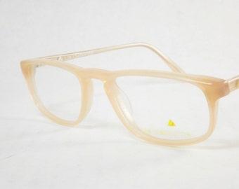 Narrow Eyeglasses, Preppy Eyeglasses, Pale Icy Pink Vintage 80s Liz Claiborne Designer Frames