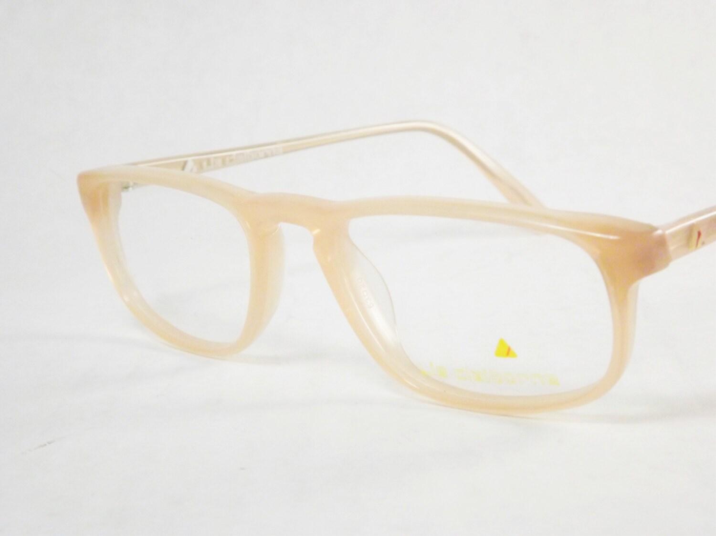 narrow eyeglasses preppy eyeglasses pale icy pink vintage