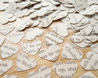 SPECIAL OFFER Fifty Shades of Grey Novel Book Confetti - Hen Party Bachelorette Party Table Decoration