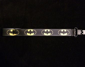 Batman Pacifier Holder with snap or string