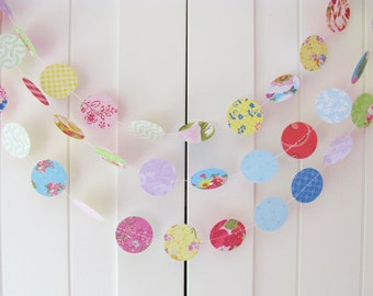 10ft Long Shabby Chic Card Stock Garland using K and Company card - Wedding Decoration, Baby Shower, Bridal Shower