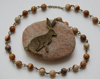Spirit of the Hare Witches'/Witch's Ladder/Druid's Ladder/Prayer Beads/Necklace. Pagan Wicca Witch Druid Eostre Andraste Boudicca Hares Moon