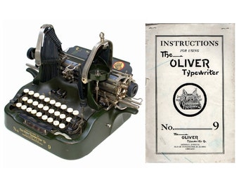 The Oliver No.9 Typewriter User's Manual