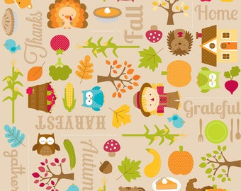 Harvest Main Brown - 1 Yard  Cut - Brown Fabric  - Cotton Fabric - Riley Blake Designs - Cotton Fabric - Quilting Fabric