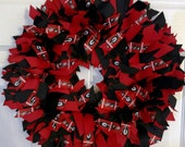 University Of GEORGIA BULLDOGS Ribbon Wreath Go Dawgs!- Custom Made -Perfect Georgia Decoration / Collectible /Show your Dawg Pride!-3 Sizes